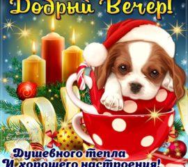 Доброго зимнего вечера открытка
