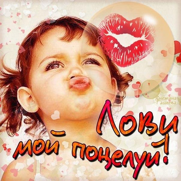 Открытки привет с поцелуйчиками
